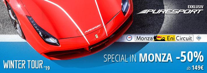 Winter Special mit Ermäßigungen von 50 % in Monza