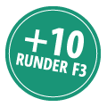 + 10 runder med F3