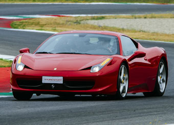 Try a Ferrari 458 Italia on racetrack with Puresport in Mugello