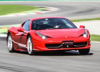 Try a Ferrari 458 Italia on racetrack with Puresport in Tazio Nuvolari