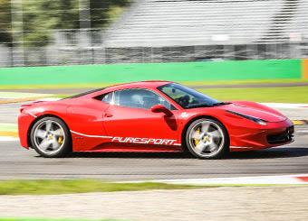 Giri di pista su Ferrari 458 Italia a Vairano con Puresport