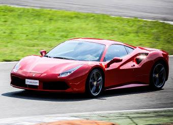 Try a Ferrari 488 GTB on racetrack with Puresport in Tazio Nuvolari