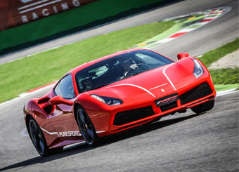 Drive a Ferrari 488 GTB in Viterbo with Puresport