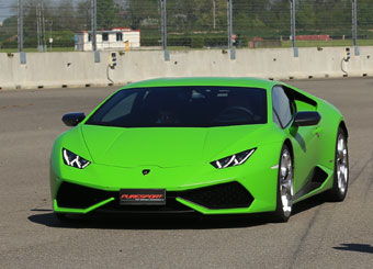 Laps on Lamborghini Huracán in Vairano with Puresport