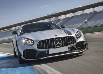 Drive a Mercedes AMG GT-R Pro in Magione with Puresport