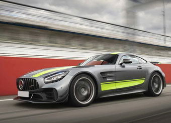 Try a Mercedes AMG GT-R Pro on racetrack with Puresport in Vallelunga