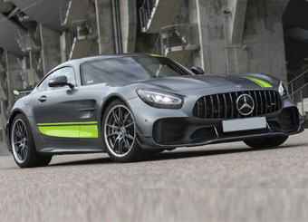 Laps on Mercedes AMG GT-R Pro in Varano with Puresport